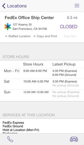 FedEx App -  Copyrights by FedEx