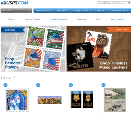 USPS Online Store  – Copyrights by USPS