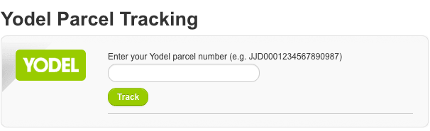 Yodel Parcel Tracking  – Copyrights by Yodel