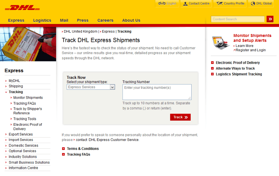 dhl tracking track and trace track. Black Bedroom Furniture Sets. Home Design Ideas