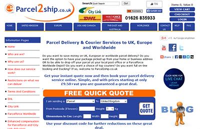 parcel2ship website