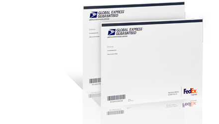 USPS Global Express Guaranteed  – Copyrights by USPS